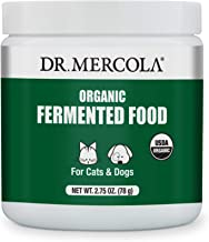 Dr. Mercola Organic Fermented Food for Cats & Dogs, 2.75 oz. per Container (78g), Non GMO, Gluten Free, Soy Free, USDA Org...