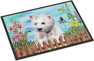 """Caroline's Treasures Westie Spring Doormat-Parent, Multicolor, 18"""" x 27"""""""