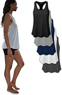 e4d3967a22cf65 Women s 5 Pack Everyday Flowy Burnout Racer Back Active Workout Tank Tops