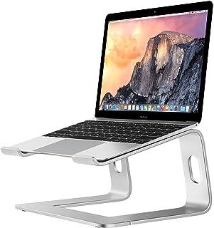 ラップトップスタンド - ATiC アルミニウム合金製 取り外し可能 ノートパソコン ノート PC スタンド Macbook Pro/Air, Acer, ASUS, HP, Surface Pro, Sony, Dell, Lenovoなどに対応している - SILVER