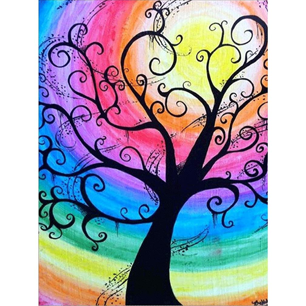 DIY 5D Diamond Painting by Number Kit,Love Tree for Wall,5d Diamond Art Rhinestone Embroidery Cross Stitch Kits Supply Arts Craft Canvas Wall Decor Stickers 16x12 inches