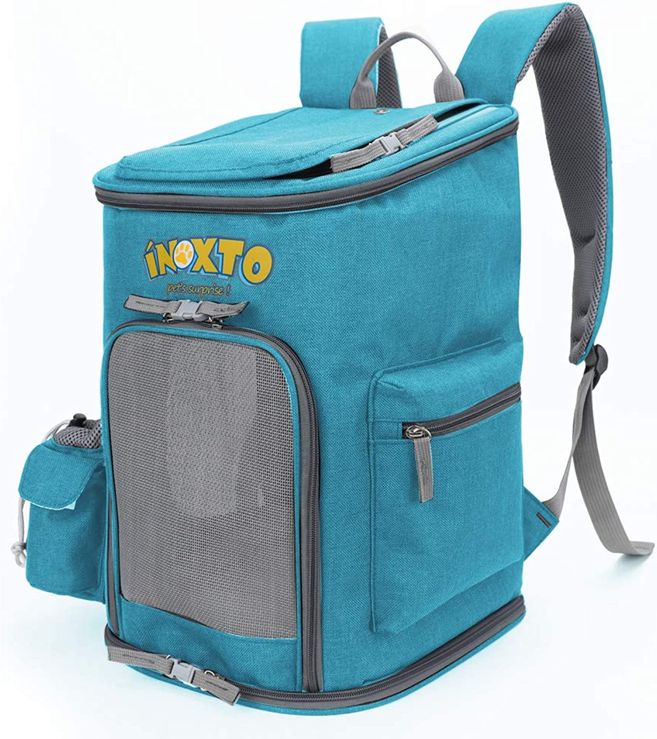 HUANGHIENG SoftSided Pet Carrier Backpack for Small Dogs and Cats Airlineved, Designed for Travel, Hiking, Walking &Outdoor (Blue)
