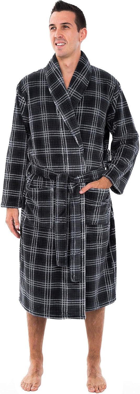 Alexander Del Rossa Men's Warm Fleece Robe, Plush Bathrobe at  Men's Clothing store