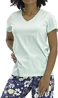 Women's Short Sleeve V-Neck Sleep