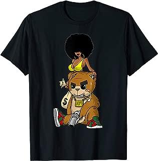 Hip Hop Teddy Bear Gangster Rap Hustle Hard Get Money Tee T-Shirt