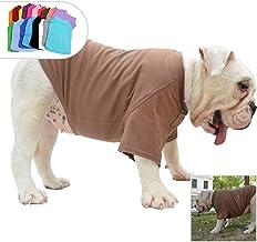 lovelonglong Bulldog Ropa Perro Ropa Blank Camiseta Camisetas para Bulldog Francés Inglés Bulldog American Pit Bull Pugs 100% Algodón Cuidado de la Piel Café B-S