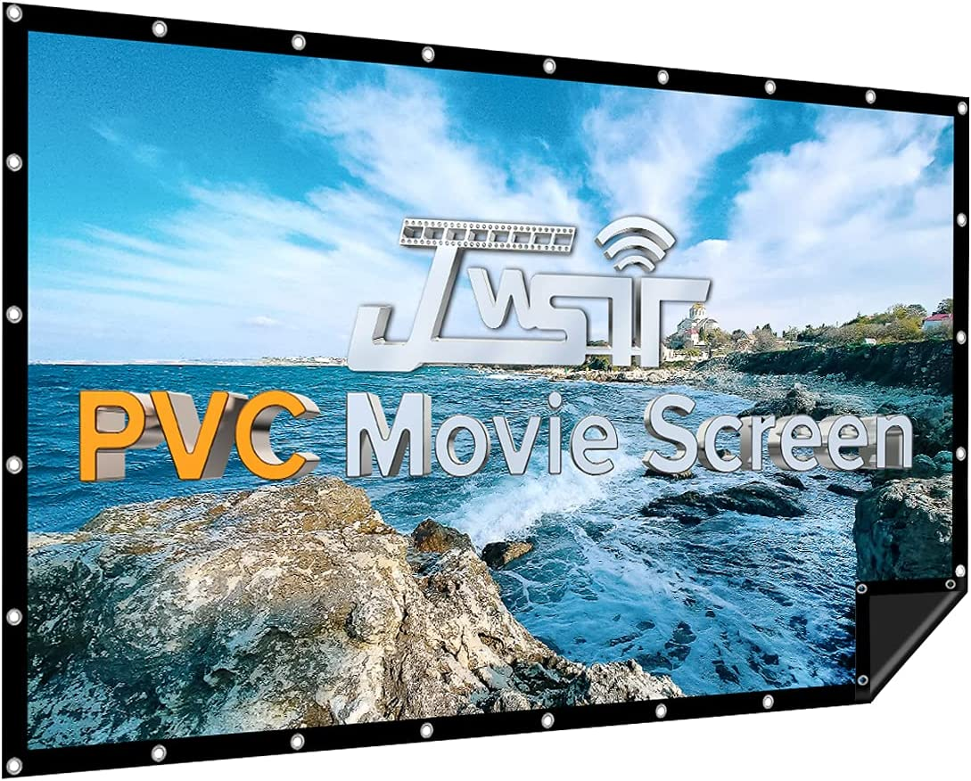 Projector Bombing free shipping Screen 120 inch PVC 1.3 Angle OFFicial shop 176° Viewing I Gain