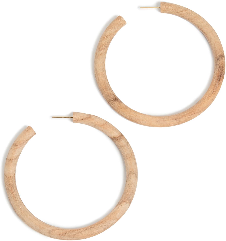 Soko Women's Arlie Maxi Wood Hoop Earrings