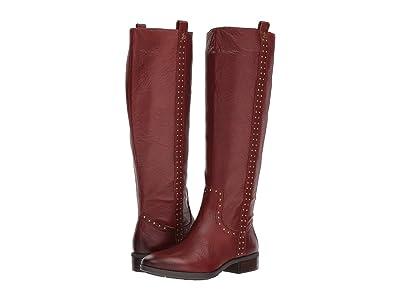 Sam Edelman Prina Leather Tall Boot (Redwood Brown Neymar Leather) Women