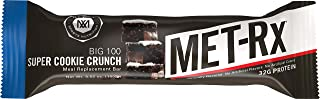 MET-Rx Big 100 Colossal Protein Bar, Super Cookie Crunch, 4 Count Value Pack, High Protein Bars to Support Energy Levels and Muscles, Great as A Meal Replacement, Gluten Free