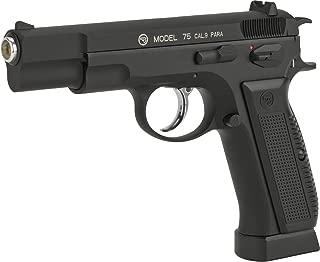 Evike ASG CZ-75 CO2 Powered Blowback 4.5mm Air Pistol - Black (4.5mm Airgun NOT Airsoft)
