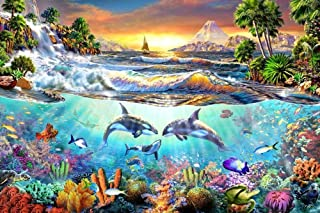 BJBJBJ 1000 Pieces of Wooden Puzzles Underwater World Landscape Map Fun Game Educational Exploration Creativity and Problem Solving