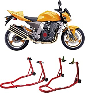 HYD-Parts Sport Bike Motorcycle Front & Rear Combo Wheel Lift Stands Fork & Swingarm Stands Paddock Stands Fits for Yamaha Honda Kawasaki Suzuki BMW (Front & Rear Stand)