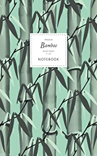 Bamboo Notebook - Ruled Pages - 5x8 - Premium: (Spring Green Edition) Notebook 96 ruled/lined pages (5x8 inches / 12.7x20....