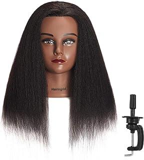 "Hairingrid Mannequin Head 14"" 100% Real Hair Hairdresser Cosmetology Mannequin.."