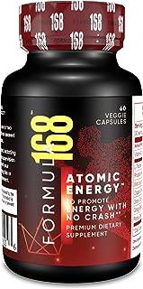 Body Brain Energy Pills - No Crash Organic Caffeine - Rhodiola Rosea, Panax Ginseng Ginkgo Biloba, Vitamin B12 1000mcg, L-Theanine Powder, Reishi Mushroom - Weight-Loss Supplements for Men & Women