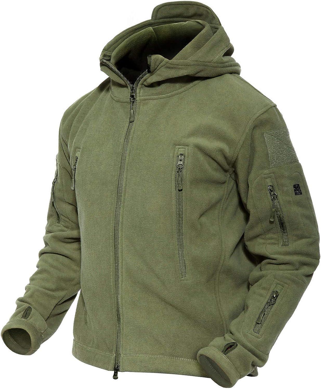 MAGCOMSEN Albuquerque Mall Limited time trial price Men's Hoodie Fleece Jacket Winter 6 J Zip-Pockets Warm