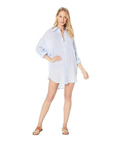 Vitamin A Playa Shirtdress Cover-Up (Ecolinen Gauze Celeste) Women