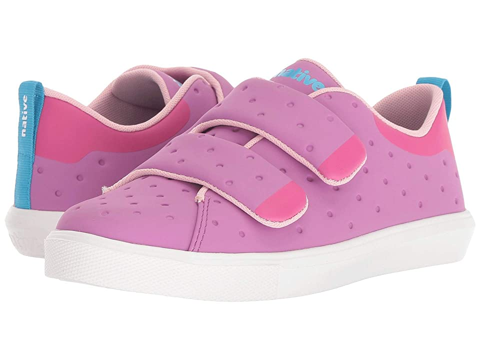 Native Kids Shoes Monaco HL CT (Little Kid) (Peace Purple Coated/Hollywood Pink/Shell White) Girls Shoes