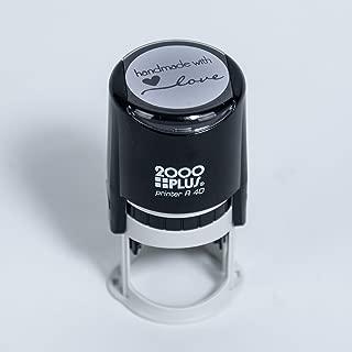 Handmade with Love Self-Inking R40 Round Stamp, 1 1/2