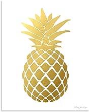 Pineapple Print, Gold Pineapple Print, Pineapple Wall Art, Pineapple Decor, Golden Pineapple, Pineapple Art