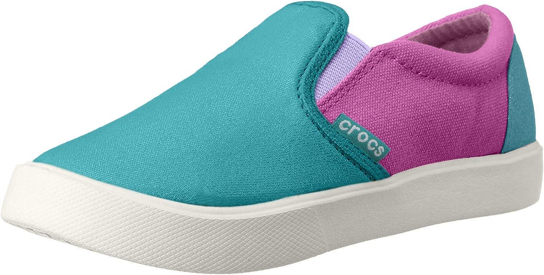 crocs Kids' Citilane Sneaker K Slip-On, Turquoise/Party Pink, 2 M US Little Kid