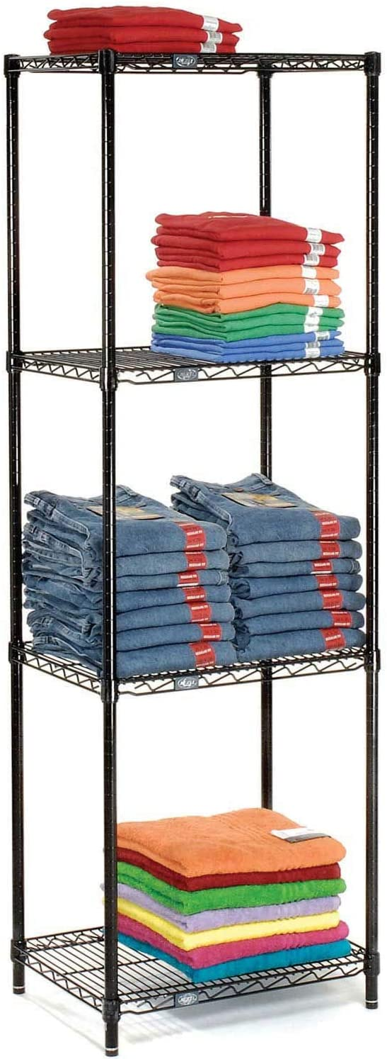 Nexel 4 Tier Black Epoxy Wire Shelving x Starter At the price of Ranking TOP4 surprise 18
