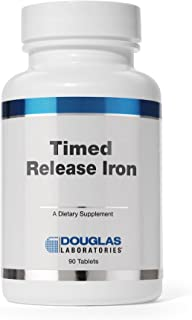 Douglas Laboratories - Timed Released Iron - Helps Support Anemia, Lethargy, Tiredness, Red Blood Cell Production and Oxygenation* - 90 Tablets