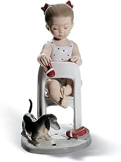 Lladro Girl Figurine 8524 FETCH MY SHOE! 01008524