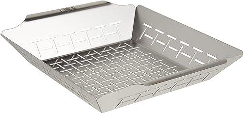Weber-6434-Deluxe-Ss-Vegetable-Basket,-Stainless-Steel