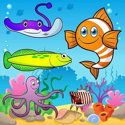 Puzzle für Kleinkinder - das Meer, die Fische und die Wassertiere ! Pädagogische Puzzle Spiele - KOSTENLOS
