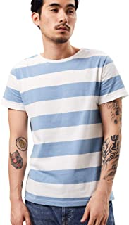 Zbrandy Wide Striped T Shirt for Men Sailor Tee Red White Black Navy Stripes Top Basic