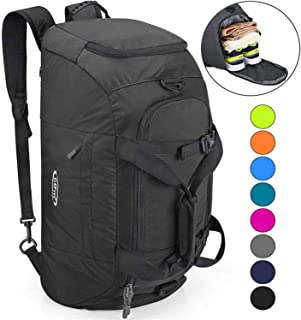 3-Way Duffle Backpack Gym Bag for Men Women Sports Duffel Bag with Shoe Compartment Travel Backpack Luggage 40L