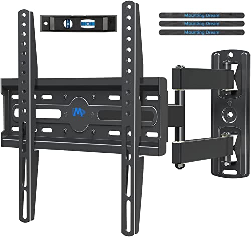 Mounting Dream Full Motion TV Wall Mount Corner Bracket with Perfect Center Design for Most of 26-55 Inch LED, LCD, O...