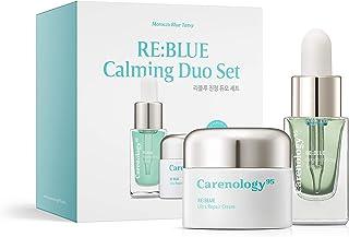 Carenology Organic Blue Tansy Regenerating Face Serum&Cream Moisturizer Gift Set- Antioxidant Natural Ingre...