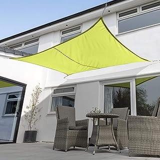 Verde Kookaburra Tenda a Vela Rettangolare 5,0m x 4,0m per Feste Resistente allAcqua Protezione Anti Raggi 96.5/% UV per Ombreggiare Il Giardino Terrazzo o Balcone