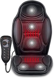 Switory Massagesitzauflage Rücken mit Auto Sitzheizung DC 12V Beheizter Autositzbezug mit with Intelligent Temperature Controller Winter Universial Autositz Wärmer für PKW SUV MPV Front Chair