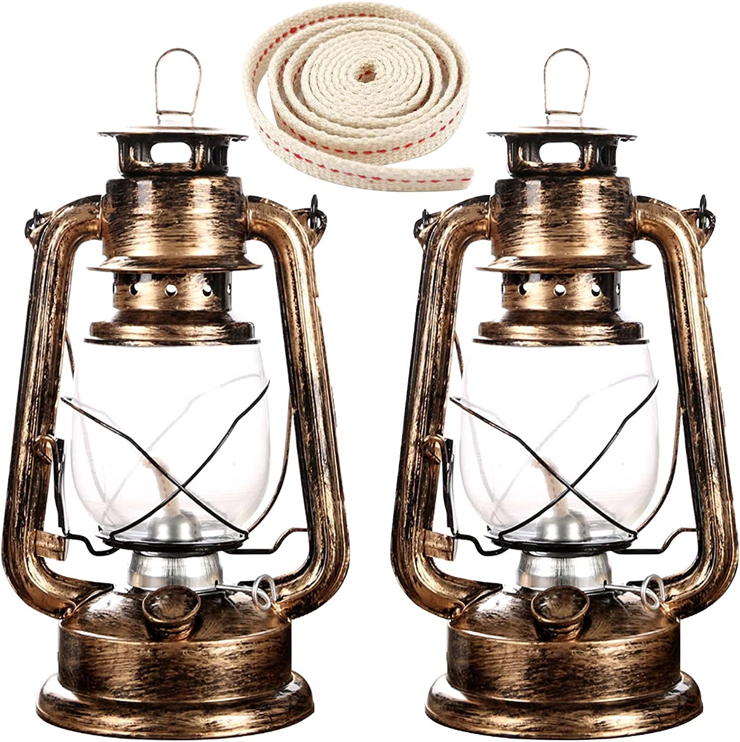 rnuie Rustic Kerosene Factory outlet Lantern 2 Pack of Lamp Oil Year-end annual account 1 Roll and