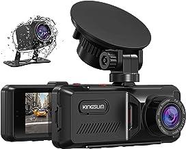 Kingslim Dual Dashcam mit GPS, 1080P FHD Vorne und Hinten Autokamera mit 3.16..