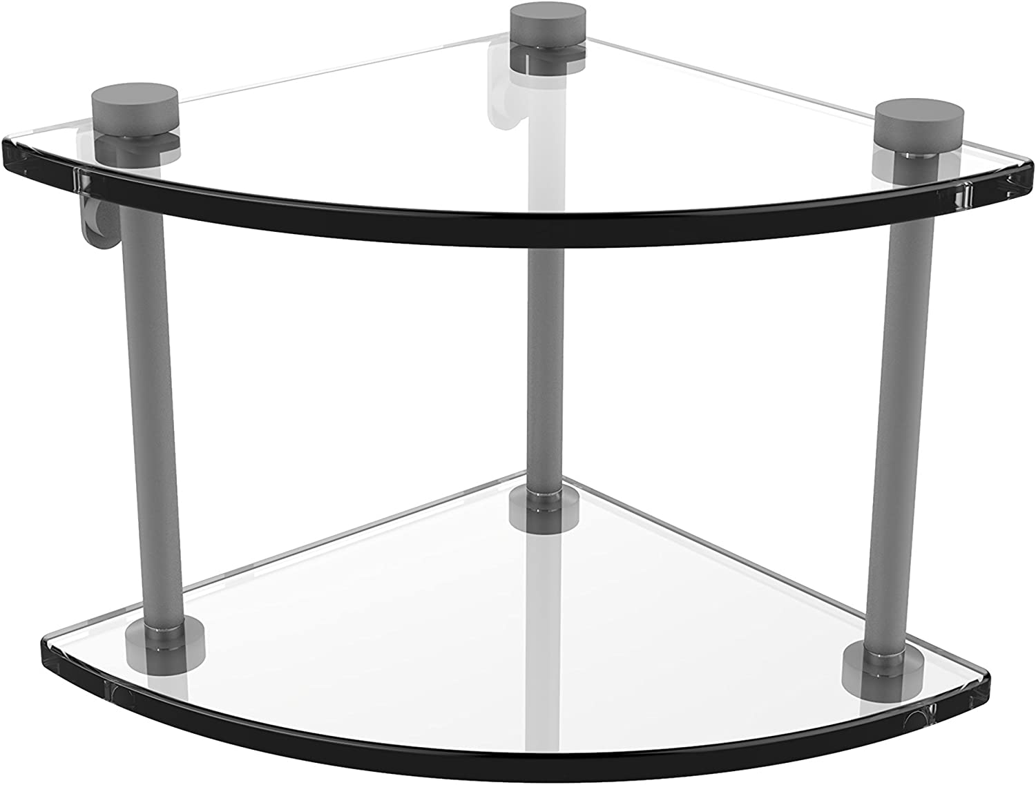 Allied Brass Two Tier Corner Glass Shelf, NS-3-GYM