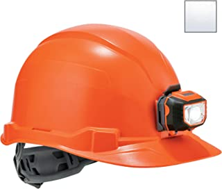 Hard Hat with Light, Cap Style, Ratchet Suspension, Class E, Ergodyne Skullerz 8970LED