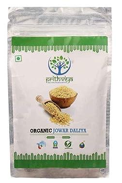 Prithviya 100% Organic Jowar Daliya,Dalia 500 gm