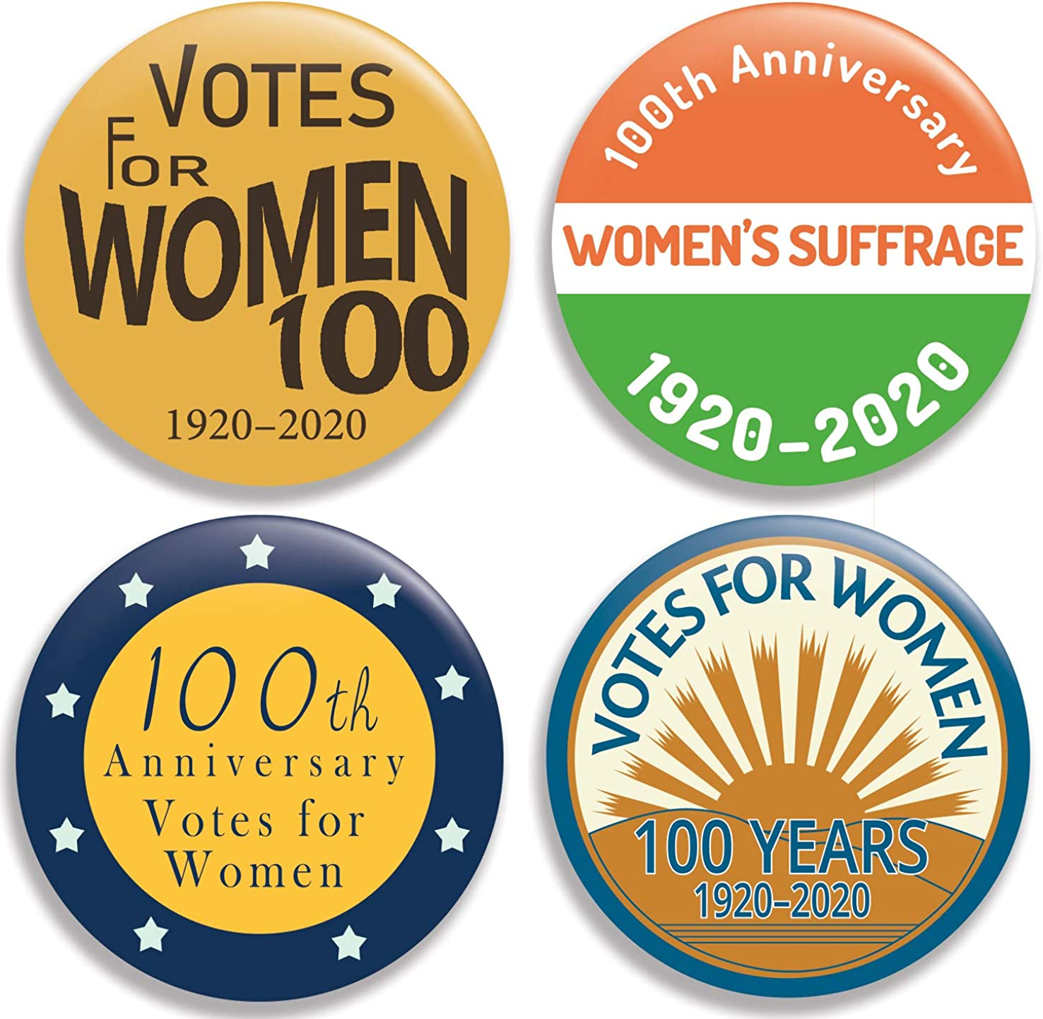 Votes for Women Popular product - 100th Max 63% OFF Collection Anniversary Pinback Bu II