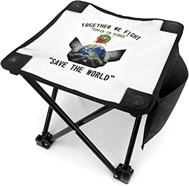 Stop The Spread 3D Print Camping Small Seat Barbeque Stool for Fishing BBQ Hiking Gardening and Beach, Travel
