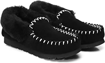 UGG Slippers Australian Premium Soft Sheepskin Wool Winter Home Cozy Womens Slipper Popo Moccasin Shoes
