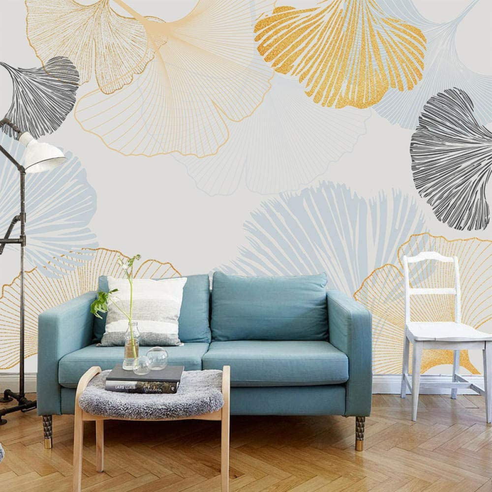 Pbldb Tv Background Wall Free shipping on posting reviews Paper Living Nordic Apricot Mural Leaf Special price