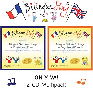 BilinguaSing Loved by Parents! Beginners French | French Music for Children On y va' 2 CD Multipack