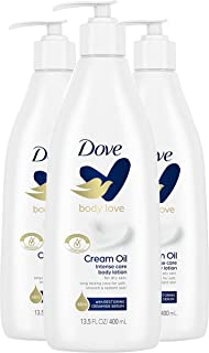 Dove Body Love Moisturizing Body Lotion for Rough or Dry Skin Intense Care Softens and Smoothes 13.5 oz 3 Count