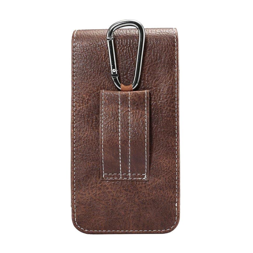 下に単調なすでにヴィンテージ象パターン屋外ウエストバッグ財布ユニバーサルカードポケットダブルデッキ多機能カードスロットベルトクリップバッグ