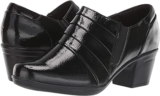 Black Synthetic Crinkle Patent